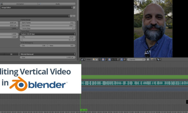 Editing Vertical Video in Blender